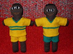 Roz Goodwin's dolls dressed for the game Made for KAS May 2016