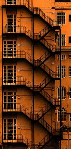 Metal staircase.  // Adelphi Hotel Liverpool