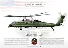 "UNITED STATES MARINE CORPSMARINE HELICOPTER SQUADRON ONE (HMX-1) ""Nighthawks"" VH-60N ""WhiteHawk"" 'MARINE ONE'"