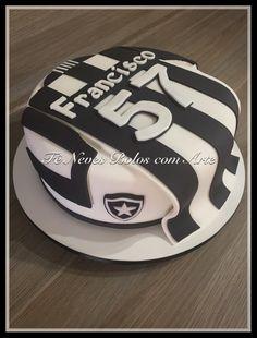 Bolo Botafogo - Bolo Time de Futebol