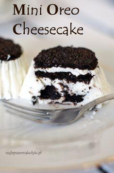 Mini serniczki Oreo na zimno – Najlepsze Smakołyki Mini Oreo Cheesecake, Ghibli, Eat, Food, Essen, Meals, Yemek, Eten