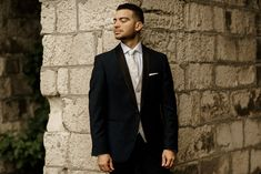 Outdoor Couple, Real Weddings, Groom, Suit Jacket, Breast, Suits, Portrait, Couples, Fashion