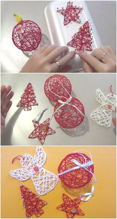 How to Make Unique Christmas Tree Decorations - Awesome DIY Project -. - How to make unique Christmas tree decorations – Awesome DIY Project – Diy Projekt How to make u - Unique Christmas Trees, Christmas Crafts For Kids, Diy Christmas Ornaments, Diy Christmas Gifts, Christmas Projects, Holiday Crafts, Crochet Christmas, Outdoor Christmas, Christmas Ideas