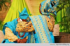 Nigerian Wedding Colors: Aso-Oke Color Matching Ideas For Traditional Engagement Ceremony   Nigerian Wedding