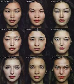 Turkic woman from different ethnic groups (Altai,. - I wonder. Face Reference, Anatomy Reference, Photo Reference, 3d Foto, Foto Art, Face Anatomy, Human Anatomy, Average Face, Beauty Around The World