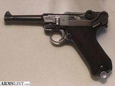 1940 Austrian Luger. Along with the Thompson machine gun and the M1 Carbine, this is one of the three most iconic weapons of the Second World War. Man, they're cool.