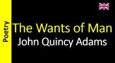Áudio Livro - Sanderlei: John Quincy Adams - The Wants of Man