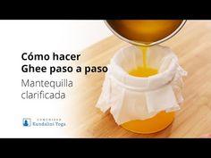 Cómo hacer Ghee paso a paso (receta clásica y práctica) - YouTube The Creator, Detox, Natural, Healthy, Youtube, Food, Clarified Butter, Cooking Oil, Moroccan Kitchen