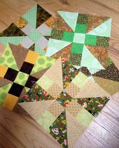 Propeller Quilt Block Pattern | FaveQuilts.com - With the right color combinations, this could be really cute.