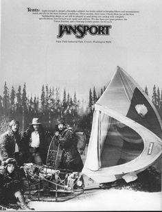 Jansport ad from Backpacker Magazine, Dome Tent, Hunting Gear, Jansport, Cavalier, Backpacking, Adventure, Park, Poster, Painting