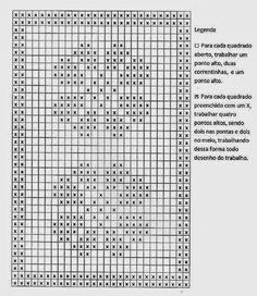 Resultado de imagen para croche com grafico caminho de mesa