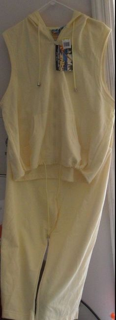 PANT &  HOODIE TOP - PEARTREE POINT BAY, LTD. MED PANT-XL TOP-YELLOW SUMMER SET