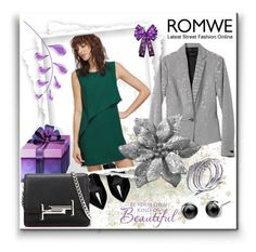 """Romwe""Contest"" by bamra ❤ liked on Polyvore featuring Yves Saint Laurent, Banana Republic and Tod's"