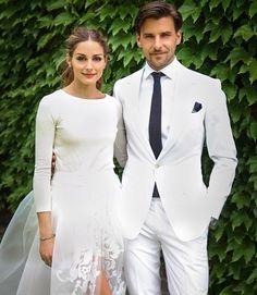 Primeras imágenes de la boda blanca de Olivia Palermo y Johannes Huebl #sociedad