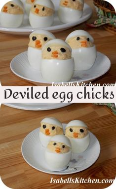 Deviled egg chicks - isabell's kitchen