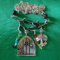 Magical Fairy Door branch necklace Twig by FromTheCauldronUK