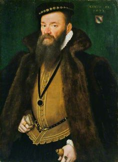Hans Eworth, portrait of a member if the Selwyn family, 1572.