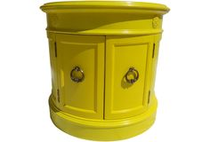 Yellow Drum Table - One Kings Lane - Vintage & Market Finds - Furniture