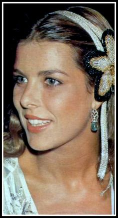 Princess Caroline of Monaco at a jeweller Louis Gérard party held at the Casino in Monte Carlo.August 7,1979.