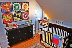 comic book nursery room - love this for a boy Nursery Room, Kids Bedroom, Nursery Decor, Nursery Ideas, Project Nursery, Nursery Design, Baby Boy Bedroom Ideas, Baby Bedroom, Baby Decor