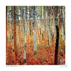Art.fr - Reproduction d'art 'Forêt de hêtres, vers 1903' par Gustav Klimt