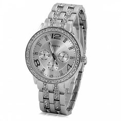 SHARE & Get it FREE | GENEVA Quartz Watch with Diamonds Round Dial and Steel Watch Band for WomenFor Fashion Lovers only:80,000+ Items·FREE SHIPPING Join Dresslily: Get YOUR $50 NOW!