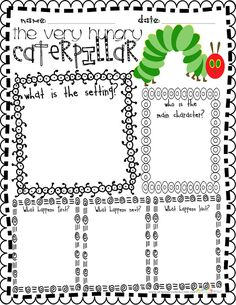 Celebrate Spring with the Very Hungry Caterpillar FREEBIE for teachers