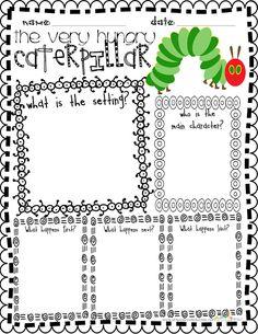 Celebrate Spring with the Very Hungry Caterpillar FREEBIE for teachers classroom, literaci, teacher notebook, the hungry caterpillar, graphic organizers, celebr spring, read, eric carl, hungri caterpillar