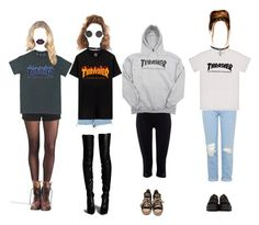 Thrasher looks by elisefrancesca on Polyvore featuring Topshop, Under Armour, Wolford, River Island, Converse, Underground, Dr. Martens, VFiles, DrMartens and momjeans