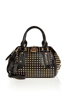 Burberry London Studded Leather Tote in black