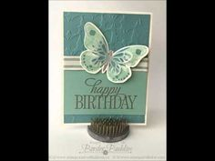 10 quick and easy cards using stampin up Butterfly thinlits.