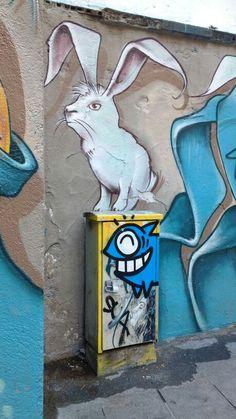 Street Art in Barcelona by Pez