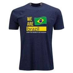 Brazil 2018 FIFA World Cup Russia™ Official Look Fashion T-Shirt (Heather  Navy)  ab956c884