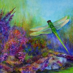 Green Dragonfly Art by Claire Bull http://claire-bull.fineartamerica.com