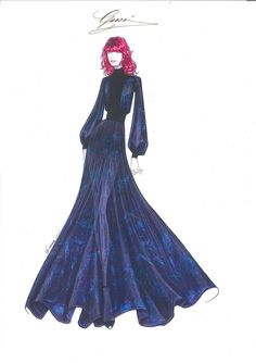 Sketch: Gucci by Frida Giannini for Florence Welch