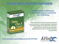 Boa Tarde Pessoal! Sabia que nós temos uma linha exclusiva de Produtos para Médicos e Clínicas? Então Conheça um deles: Fisio Clin X – Marketing para Clínicas de Fisioterapia! <br />#AtivoxSoluçõesEmMarketing #MarketingParaMédicos #MarketingParaClínicas<br />http://bit.ly/2hnnyfI