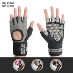 Sale US $8.88  NO PAIN NO GAIN Weight Lifting Glove Fitness Anti-skid Guantes Protective Sports Gloves Gym Exercise For Men & Women Gloves 528  #PAIN #GAIN #Weight #Lifting #Glove #Fitness #Anti-skid #Guantes #Protective #Sports #Gloves #Exercise #Women