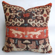 Grouping of Antique Ikat Pillows image 2