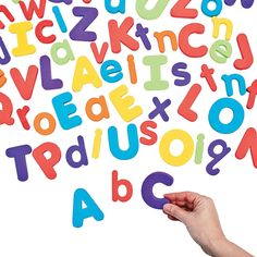Magnetic Letter Set - OrientalTrading.com $16.00, a set. 78 lowercase and 57 uppercase letters.