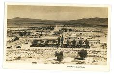 RPPC Railroad Station Depot KENT TX GHOST TOWN Texas Real Photo Postcard