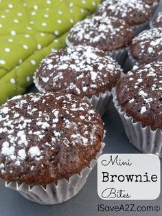 Weight Watchers Dessert anyone?! These Mini Brownie Bites are only 2 points! I have found the perfect thing for my chocolate fix, easy to make and delicious!