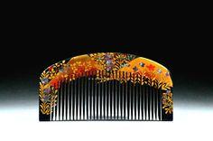 Modern Kanzashi Gold Lacquer Hair Comb - Modern Gold Lacquer Kushi  Kanzashi -  Japanese Kushi Kanzashi - Modern Japanese Kanzashi by JapaVintage on Etsy