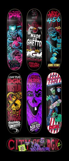 DGK After Dark Series by Brandon Heart, via Behance