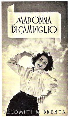vintage ski poster - Madonna di campiglio