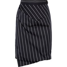 Vivienne Westwood Anglomania New Accident striped cotton-blend skirt (715 CNY) ❤ liked on Polyvore featuring skirts, vivienne westwood, bottoms, saias, navy, blue skirt, slim skirt, navy stripe skirt, blue striped skirt and navy blue striped skirt