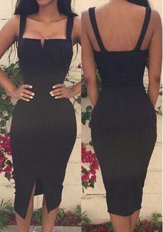 Black Satin Homecoming Dress , Open Back Homecoming Dress The Dress Bridal Sexy Dresses, Dress Outfits, Nice Dresses, Casual Dresses, Fashion Dresses, Beach Dresses, Stylish Dresses, Summer Dresses, Elegantes Outfit Frau