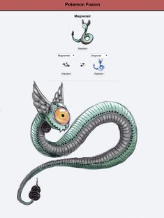 Magnenair, Pokemon Fusion artwork by Bay Lee
