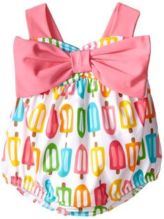 Mud Pie Baby Popsicle Swimsuit, Multi, 0-6 Months