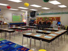 Sliding Into Second Grade: Classroom Tour desk arrangement