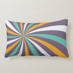 Sophisticated Dusty Purple Lollipop Swirl Lumbar Pillow
